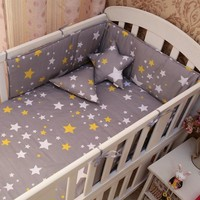 Baby bedding set (1pc bumper+1 pc sheet ) Cotton Bed Cot Bumper  200*28CM Bed Protector Colorful Baby Bed Bumpers and sheets
