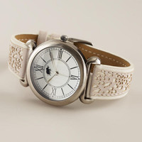 Ivory and Silver Laser Cut Watch