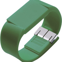 Ivy Green Rubber TPU Watch With Opto Electronic Display