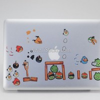 MacBook Decals Store | Angry Birds (Set) MacBook Decal by iStickr