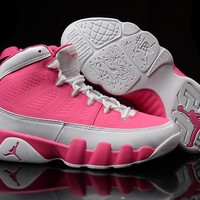 Nike Air Jordan 9 Retro Pink/Cream Women Sport Shoe Size US 5.5-8.5