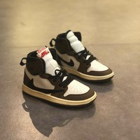 Travis Scott x Air Jordan Retro 1 High OG TS SP ¡°Cactus Jack¡± Toddler Kid Shoes Child Sneakers