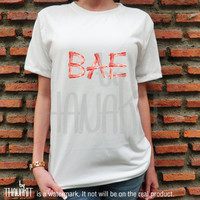 BAE Bacon TShirt - Hungry Tee Shirt Food Tee Shirts baseball Tops Size - S M L XL 2XL 3XL