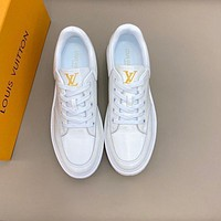 lv louis vuitton men fashion boots fashionable casual leather breathable sneakers running shoes 776