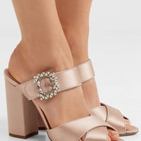 Tabitha Simmons - Reyner embellished satin sandals