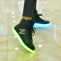 Bright Stylish Creative Colorful Shoes High-top Lights [9257113420]