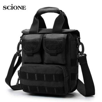 Men Tactical Bag Molle Messenger Bags Military Waterproof Camouflage Crossbody Shoulder Bags Outdoor Sports Handbag Tote XA145WA