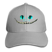 Cheshire Cat Alice In Wonderland Fitted Sandwich Peaked Baseball Cap Hat