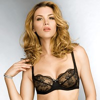 Sheer Lace Three-Quarter Tulip Bra Lise Charmel Reve Andalou