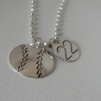 Baseball Softball Solid Sterling Silver by EverythingInitials