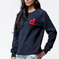 Diamond Supply Co D Patch Crew Neck Sweatshirt - Womens Hoodie - Blue