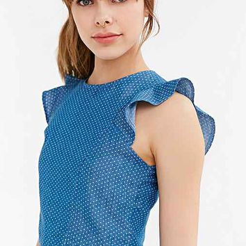 Oh My Love Chambray Dot Top