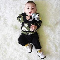 Camouflage Baby Boys Clothing Set