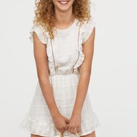Dress with Ruffles - White - Ladies | H&M US
