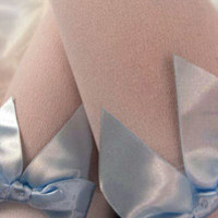 Socks by Sock Dreams » Over The Knee » Opaque Thigh Highs with Bows