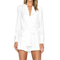 The Fifth Label Adore You Long Sleeve Playsuit in Ivory