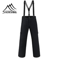 SAENSHING  Men Winter Waterproof Outdoor Pants Super Warm Snowboard Snow Trousers Male Mountain Skiing Snowboarding Trouser