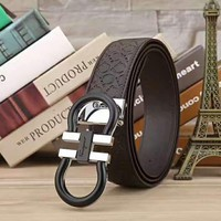 Ferragamo Woman Fashion Smooth Buckle Belt Leather Belt H-A-GFPDPF