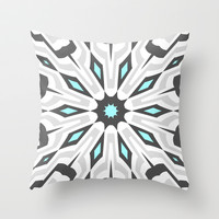 Baby Blue Concrete Throw Pillow by Abstracts by Josrick