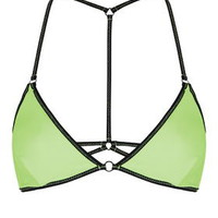 Strappy Triangle Bikini Top - Apple