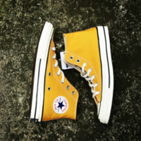 Converse All Star Sneakers for Unisex Hight tops sports Leisure Comfort Shoes Yellow