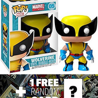 "Wolverine: ~3.75"" Funko POP! x Marvel Universe Vinyl Bobble-Head Figure + 1 FREE Official Marvel Trading Card Bundle [22772]"