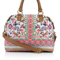Can Can Folk Weekender Bag | Multi | Accessorize