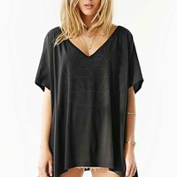 Truly Madly Deeply Mystic Geo Oversized Tee- Black
