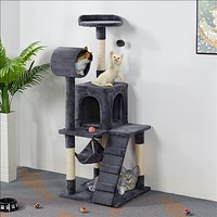 Cat Tree Scratching Post Tower with Hammock