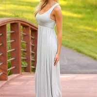 You Should Be Here Maxi Dress - Heather Grey