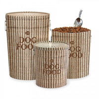 Sweetgrass Basket Dog Food Storage Canister