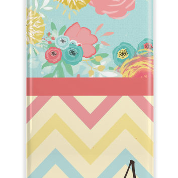 MIXED PATTERNS, CHEVRON AND FLORAL - PERSONALIZED IPHONE CASE