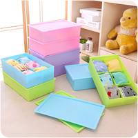 A4 Size Thicken Plastic Underwear Storage Box Socks Panties [6395700548]