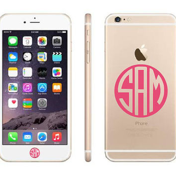 iPhone 6 Plus Decal / iPhone 6 Plus Stickers / iPhone 6 Plus Monogram Stickers / iPhone 6 Plus Monogrammed Stickers / Home Button Stickers