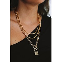 Keepsake Necklace: Gold