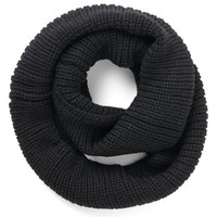 ModCloth Boho Open Air Outing Circle Scarf in Black