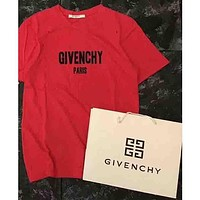 Givenchy 2018 trendy couple beautiful stylish T-shirt short sleeve F-AA-SYSY Red