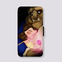 Leather Phone Covers Beauty and the beast for Samsung Galaxy Note 4 Case