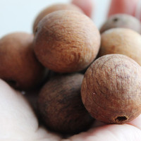 25 mm Wooden textured beads 10 pcs - natural, ECO-FRIENDLY beads - welded in olive oil