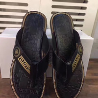 Versace : Summer flip flops, real wallet, ankle slippers