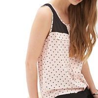 FOREVER 21 Queen of Hearts Top Baby Pink/Black Large
