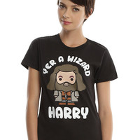Harry Potter Hagrid Yer A Wizard Girls T-Shirt