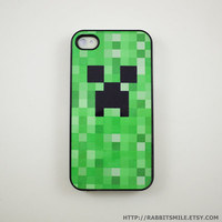 Minecraft Creeper iPhone 4 Case iPhone 4s Case by rabbitsmile