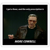 More Cowbell SNL Christopher Walken Shirt by harrisonbrowne