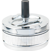 Disco Stainless Steel Spinner Cigarette Ashtray