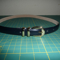 Perry Ellis Navy Blue Belt