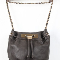 Chic Plated Bucket Bag