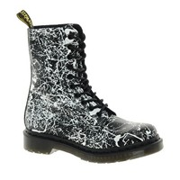 Dr Martens | Dr.Martens Black and White 1490 Print Boot at ASOS
