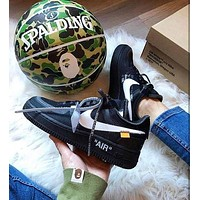 Trendsetter Nike Air Force 1 OFF-WHITE OW Women Casual Running Sport Shoes Sneakers