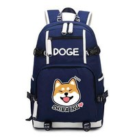 Doge Shiba Inu Backpack Cosplay Fashion Canvas Bag Schoolbag Travel Bags